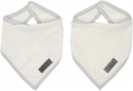Bandana bib 2 pcs. Fabulous Shadow White