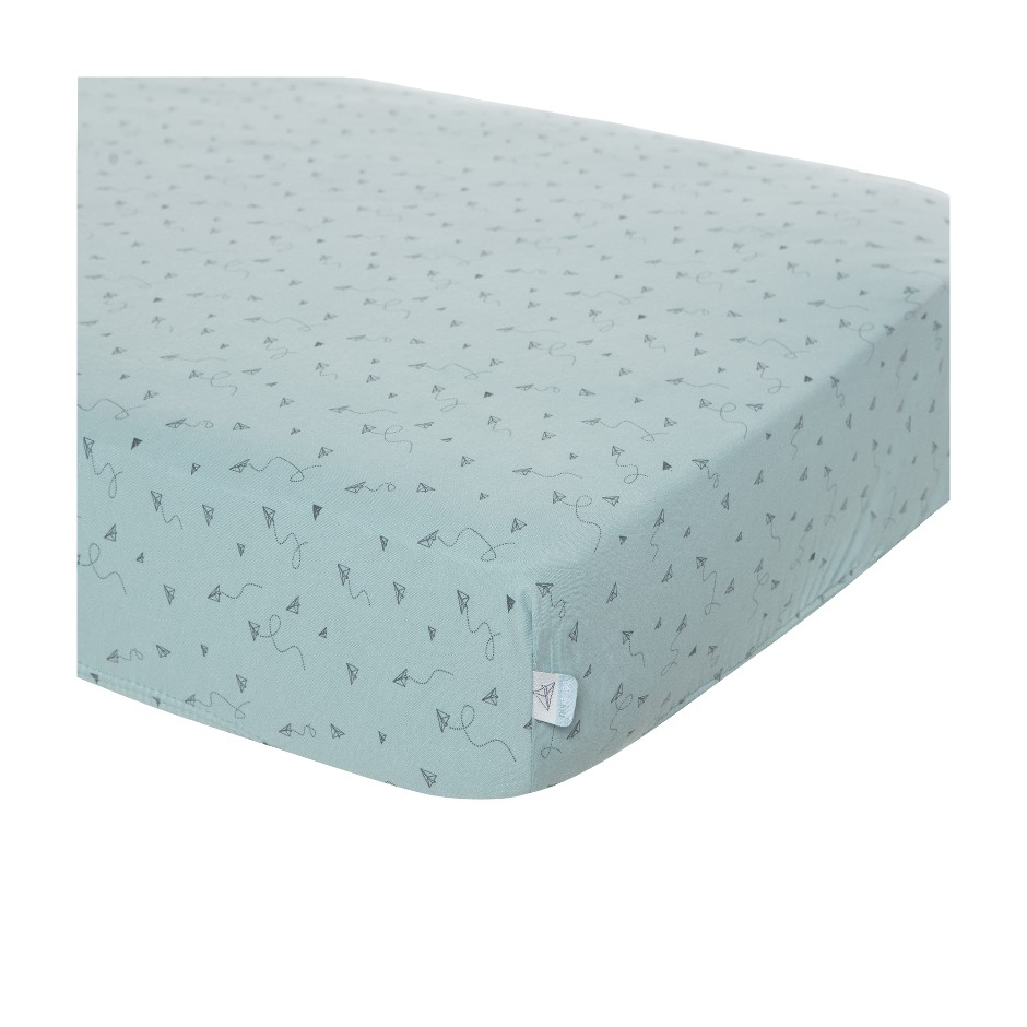 Afb: Fitted crib sheet  40x80 cm - Fitted crib sheet 40x80 cm Paper planes
