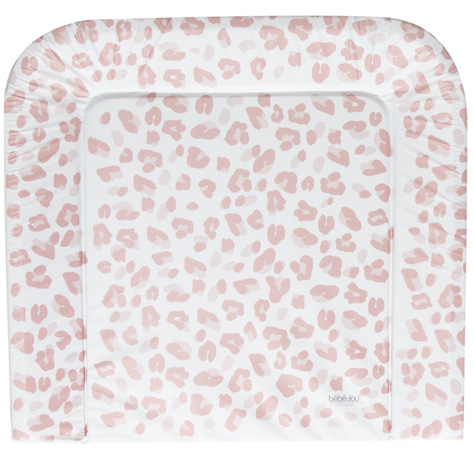 Afb: Changing pad  72x77 cm - Aankleedkussen 72x77 cm Leopard Pink